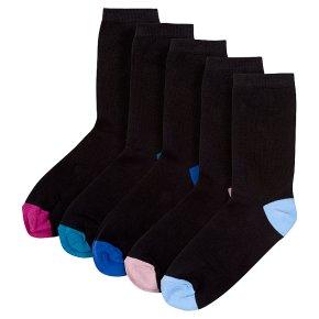 Waitrose Ankle Socks Black Heel & Toe