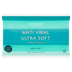 Waitrose Anti Viral Anti Viral Ultra Travel Tissues