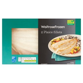 Waitrose Frozen 2 Plaice Fillets MSC