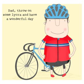 Lycra Dad Fathers Day Card