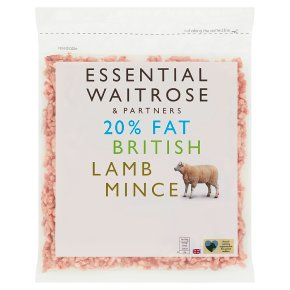 Essential Frozen 20% Fat British Lamb Mince