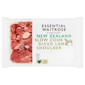 essential Waitrose New Zealand lamb diced shoulder