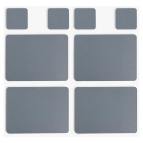 House Placemats & Coasters Steel Set of 4