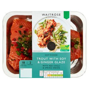 Waitrose ETC Trout w Soy & Ginger Glaze