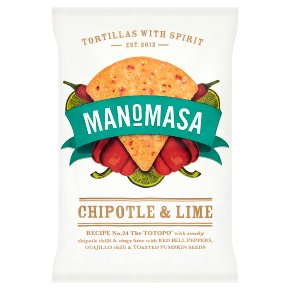 Manomasa tortillas chipotle & lime