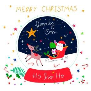 Son Christmas Electric Dreams Card