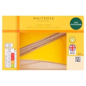 Waitrose 2 New York Lemon Cheesecake Slices