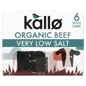 Kallo Organic Very Low Salt 6 Beef Stock Cubes