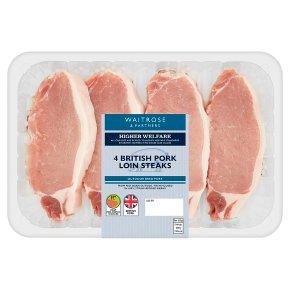 Waitrose British 4 Pork Loin Steaks