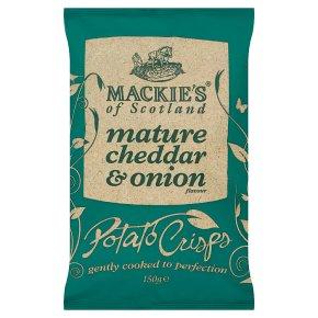Mackie's potato crisps cheddar & onion