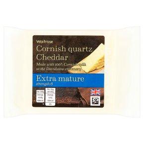 Waitrose Cornish Quartz Cheddar Extra Mature Strength 6