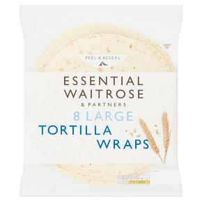 Essential 8 Large Tortilla Wraps