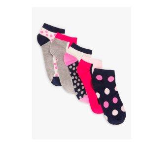 John Lewis 5pk Spot Trainer Socks
