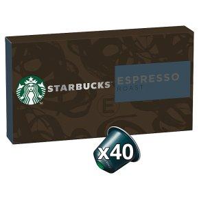 Starbucks Coffee Espresso Roast Nespresso Pods 40s