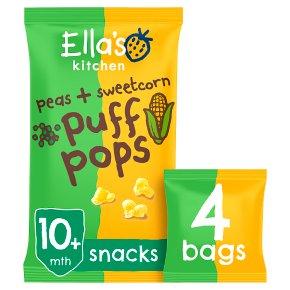Ella's Kitchen Pea & Sweetcorn Puff Pops