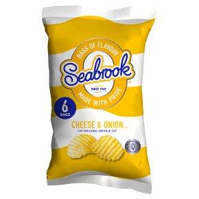 Seabrook cheese & onion crisps