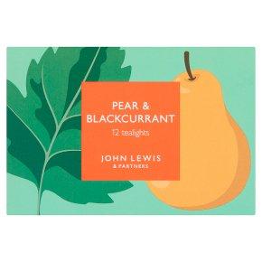 John Lewis Pear & Blackcurrant Leaf Tlights