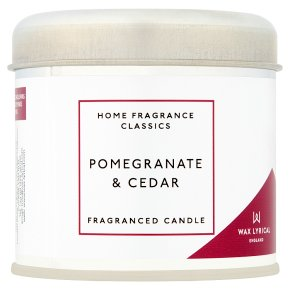 Wax Lyrical Pomegranate Cedar Tin
