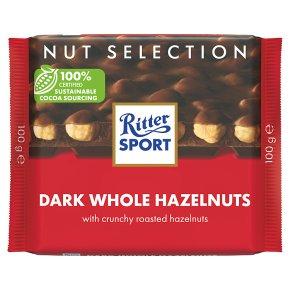 Ritter Sport Dark Whole Hazelnuts