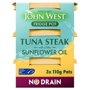 John West Tuna Steak in Sunflower Oil Fridge