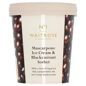 No.1 Mascarpone Ice Cream Blackcurrant Sorbet