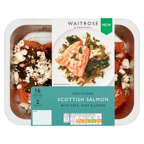 Easy to Cook Scottish Salmon with Feta, Mint & Lemon