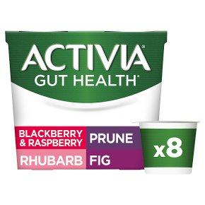 Activia Prune, Fig, Rhubarb, Blackberry & Raspberry Yogurts