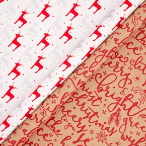 John Lewis Merry Reindeer Wrap 4m