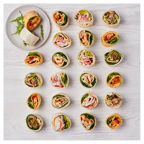 Meat Roulade Wrap Selection, 24 pieces