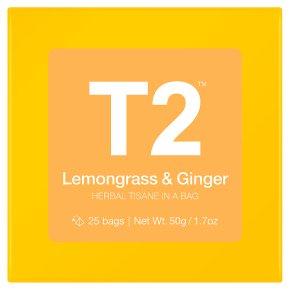 T2 Lemongrass & Ginger 25 Herbal Tea Bags