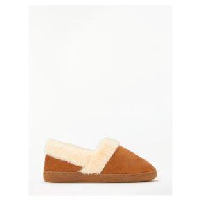 John Lewis Comfort Cuff Slippers L