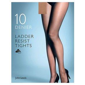 John Lewis 10 denier ladder resistant nude tights (medium)