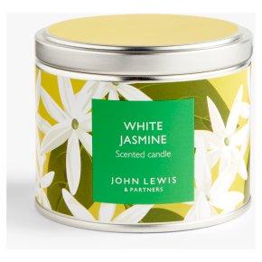 John Lewis Candle Tin White Jasmin