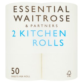 Essential 2 Kitchen Rolls White