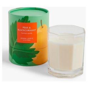 John Lewis Candle Jar Pear & Blackcurrant L