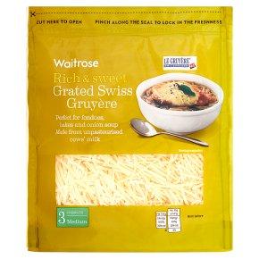 Waitrose Grated Swiss Gruyère Strength 3