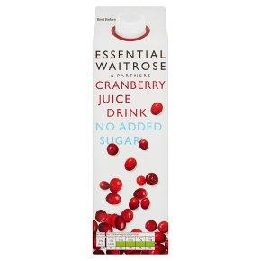 Essential No Added Sugar Cranberry Drink