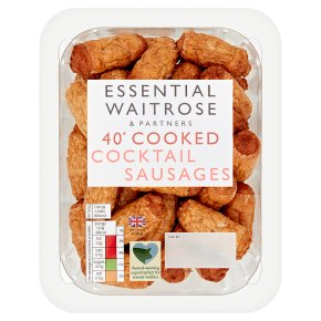Essential 40 Cooked Cocktail Sausages