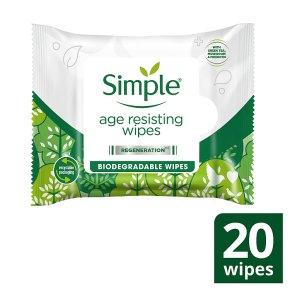 Simple Age Resisting Cleansing Wipes