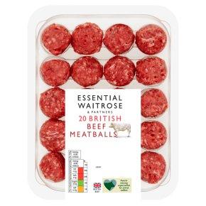 Essential British Beef 20 Meatballs