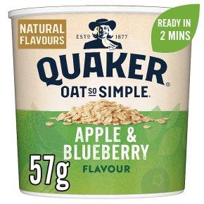Quaker Oat So Simple Apple & Blueberry Porridge Pot