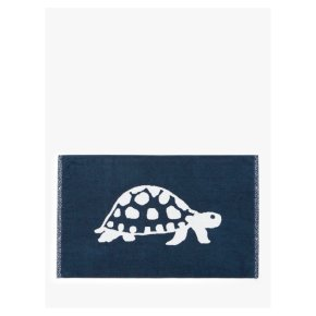 John Lewis Turtles Terry Cotton Bath Mat, Navy