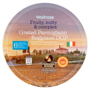 Waitrose Grated Parmigiano Reggiano DOP Strength 6