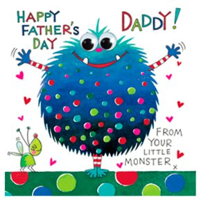 Little Monster Fathers Day Card