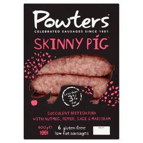 Powters 6 skinny pig sausage