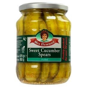 Mrs Elswood cucumber spears sweet pack