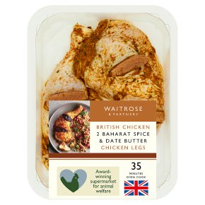 Waitrose Baharat Spice Chicken Legs with Date Butter
