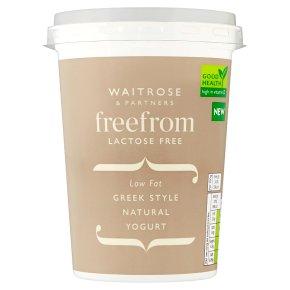 Waitrose Free From Low Fat Greek Style Natural Yogurt