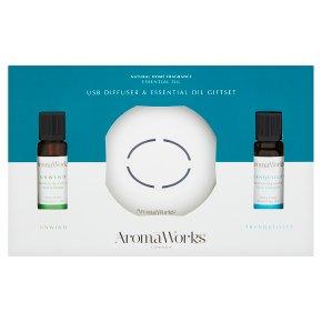 Aromaworks USB Diffuser Oil Giftset