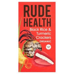 Rude Health Black Rice & Turmeric Crackers